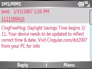 Cingular Message