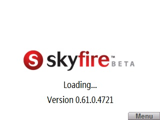 Splash Screen as Skyfire Beta Loads