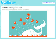 Twitter Fail Whale, screenshot by John Rees
