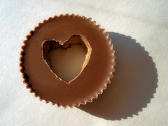 Peanut Butter Cup Heart (photo by Bob Fornal).
