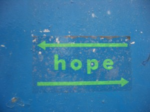 Hope. Which Way? (Photo by bixentro, cc-by license, click through for details)