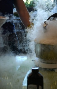 Making Ice Cream with Liquid Nitrogen (Photo by Rachel J)