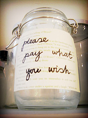 Pay What You WIsh (Photo by Delwen L., cc-by-nc, click through for details)