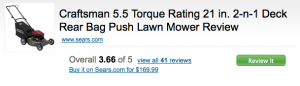 Lawn Mower detail on MySears.com (reduced)