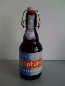 Optaros Beer, which was free as in freedom but not as in beer