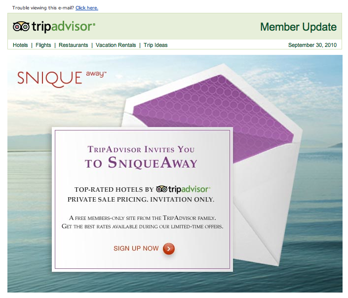 Trip Advisor's new invite-only travel offering