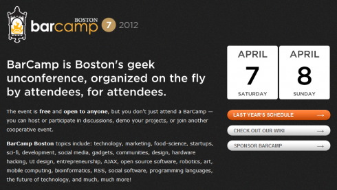 BarCamp Boston 7 Coming April 7th and 8th